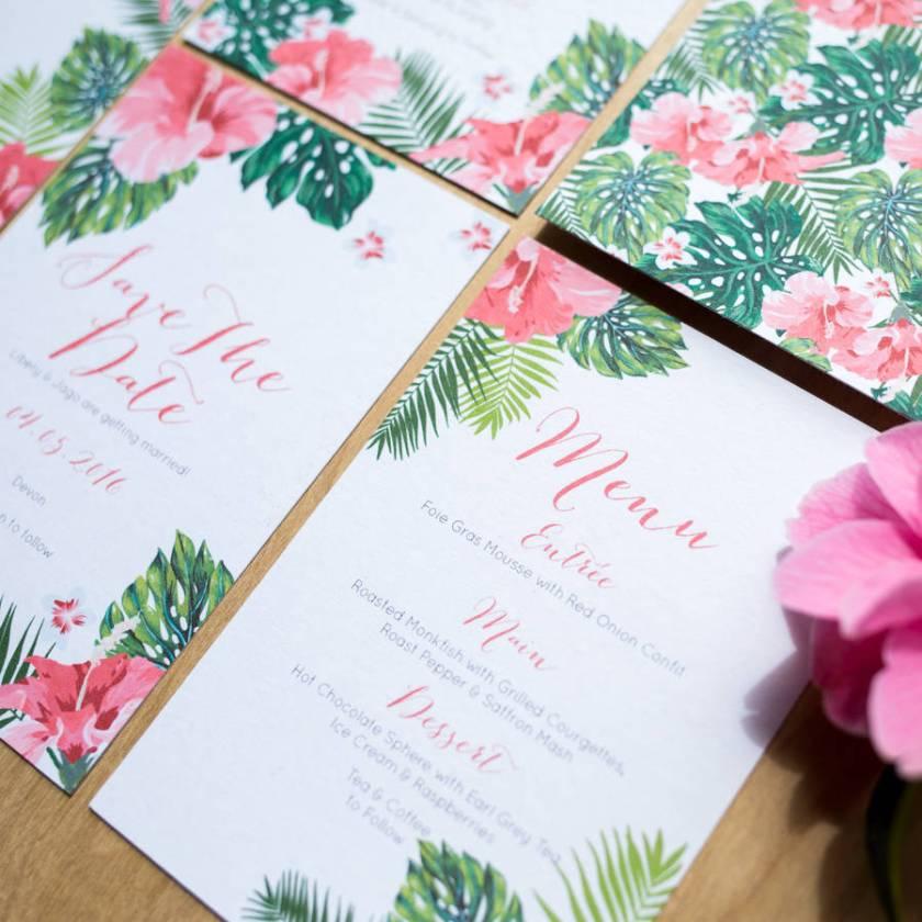 Tropical Hawaiian Wedding Invitation