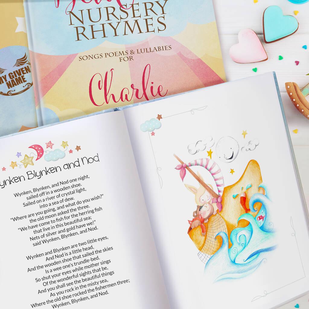 Bedtime Nursery Rhymes And Personalised Poems Book By My