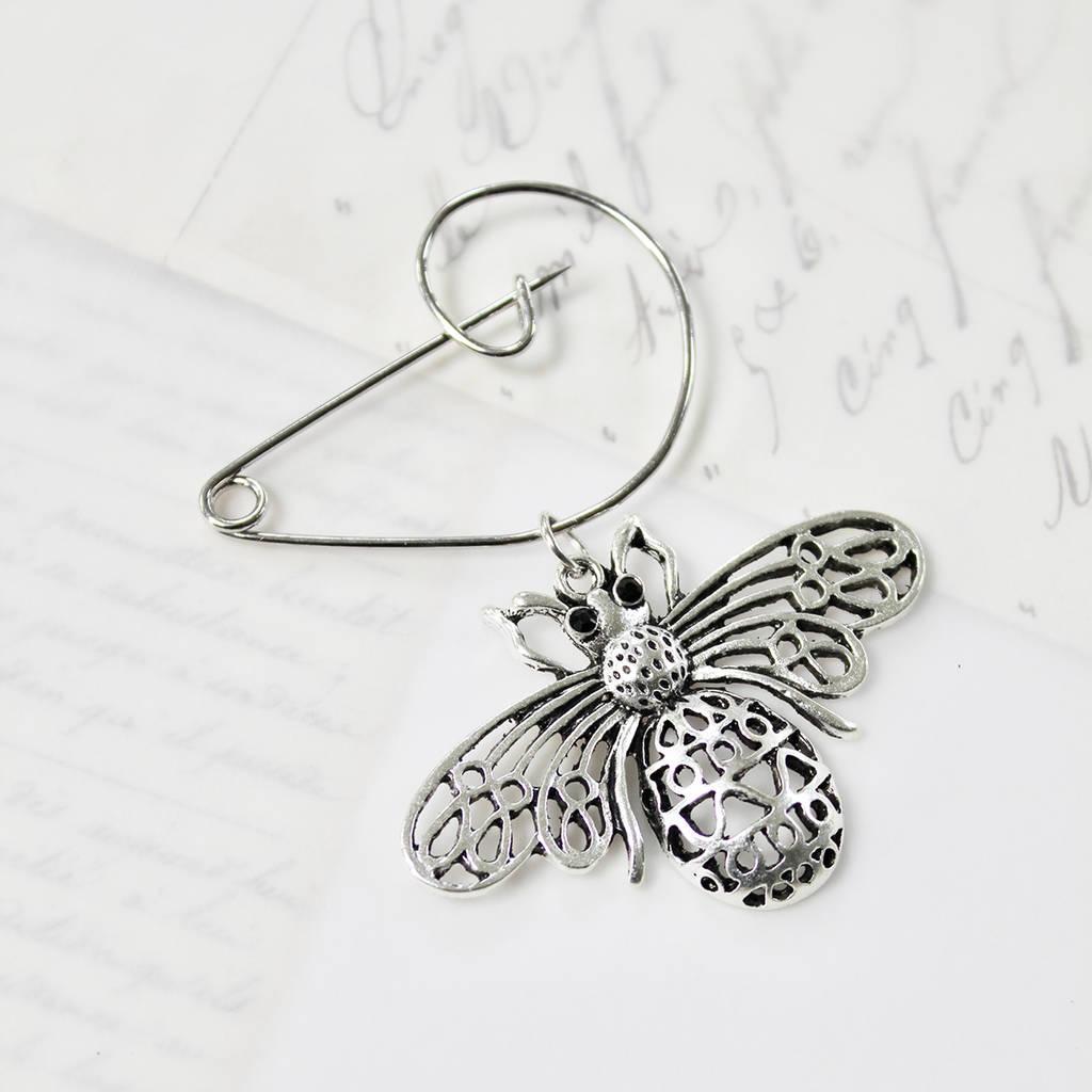 Queen Bee Swirl Pin Brooch By Zamsoe