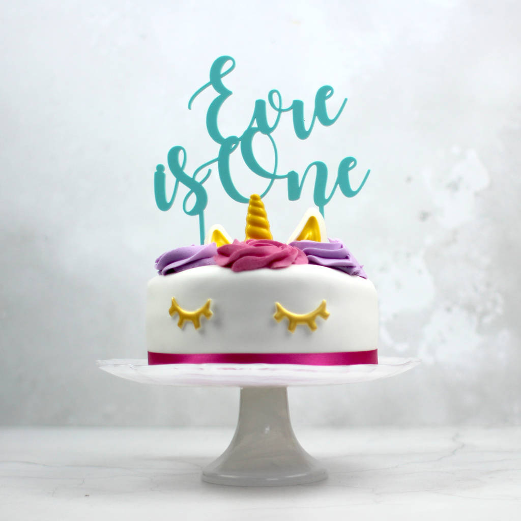 First Birthday Cake Topper Personalised By Rocket And Fox