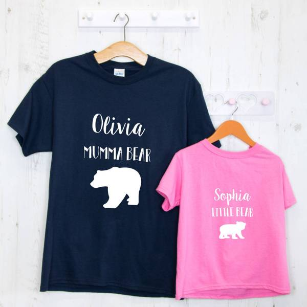 personalised mother's day t shirts set by able labels ...