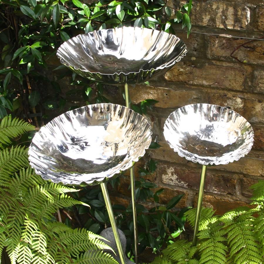 Steel Chalice Set Of Three Save 20 By London Garden