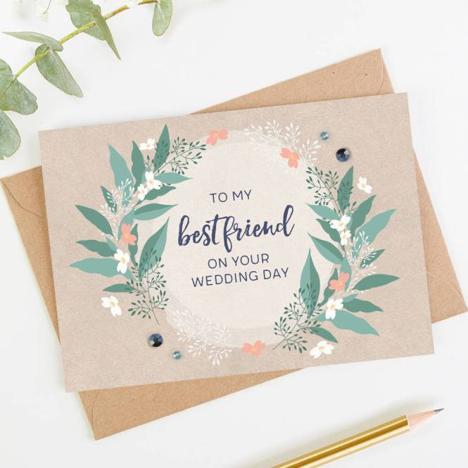Best Friend Wedding Card To My Unique Cards And Gifts