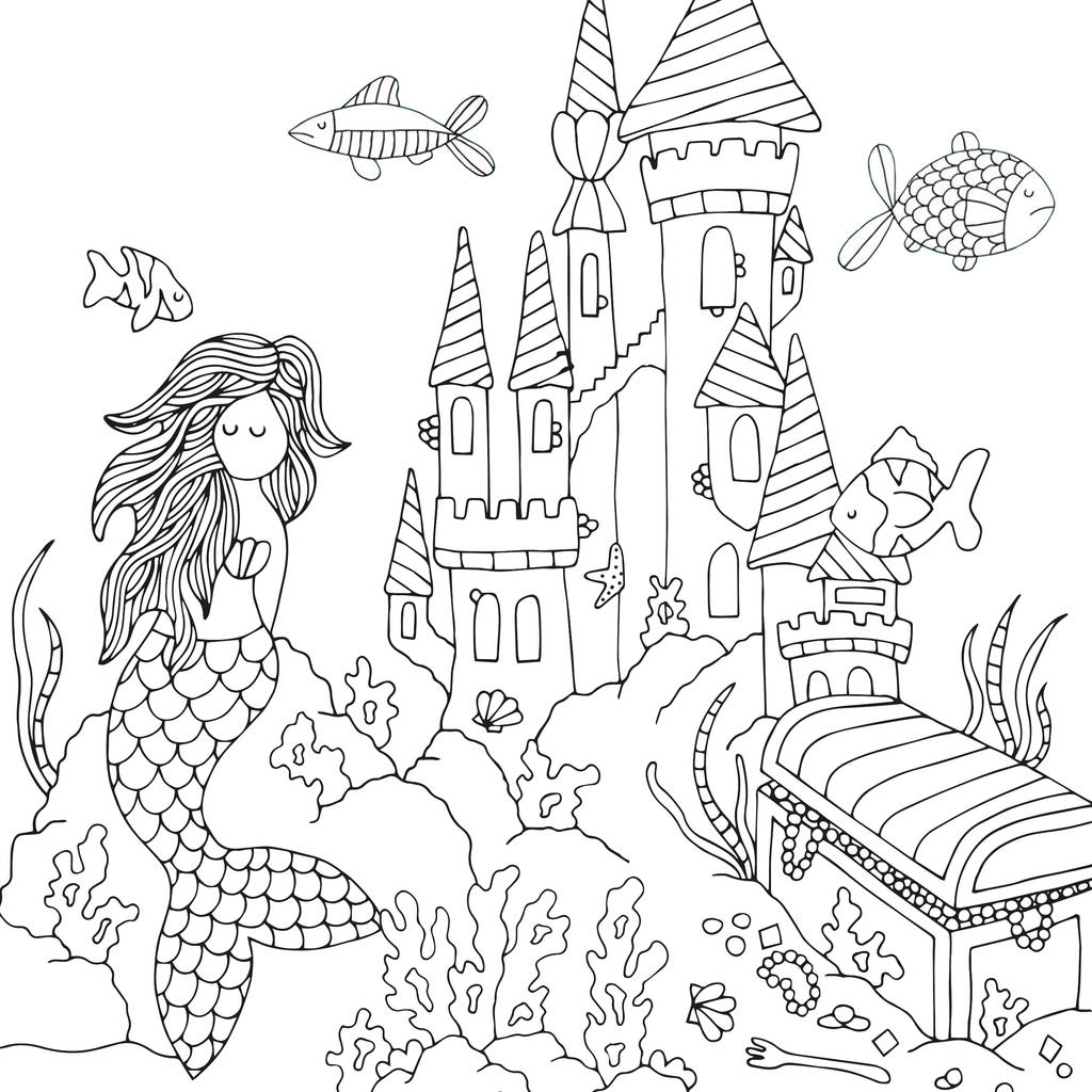 Ocean Colouring Book By Neon Magpie