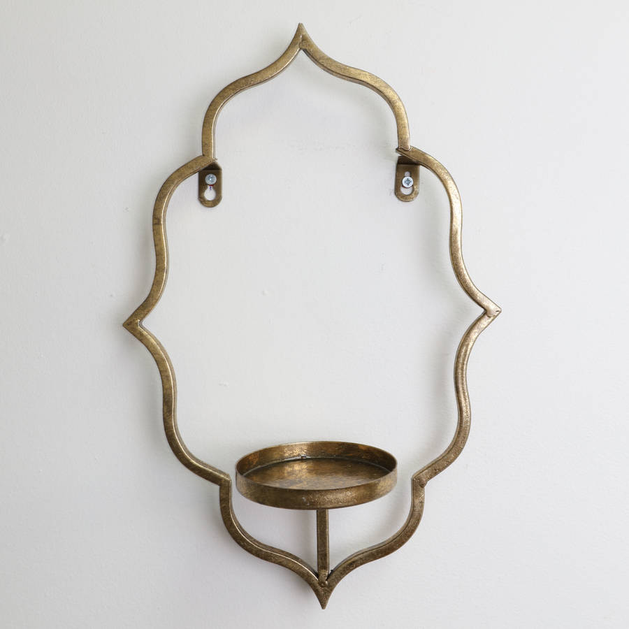 majestic gold wall candle holder sconce by dibor ... on Wall Sconces Candle Holders id=47093
