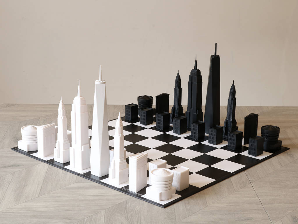 New York City Architectural Chess Set By Skyline Chess