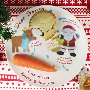 Image result for christmas plate santa