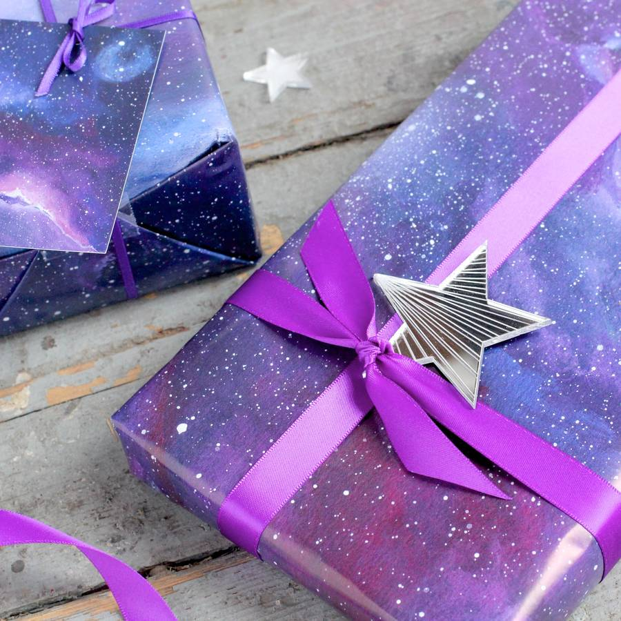 Galaxy Gift Wrapping Set By Double Thumbs Up