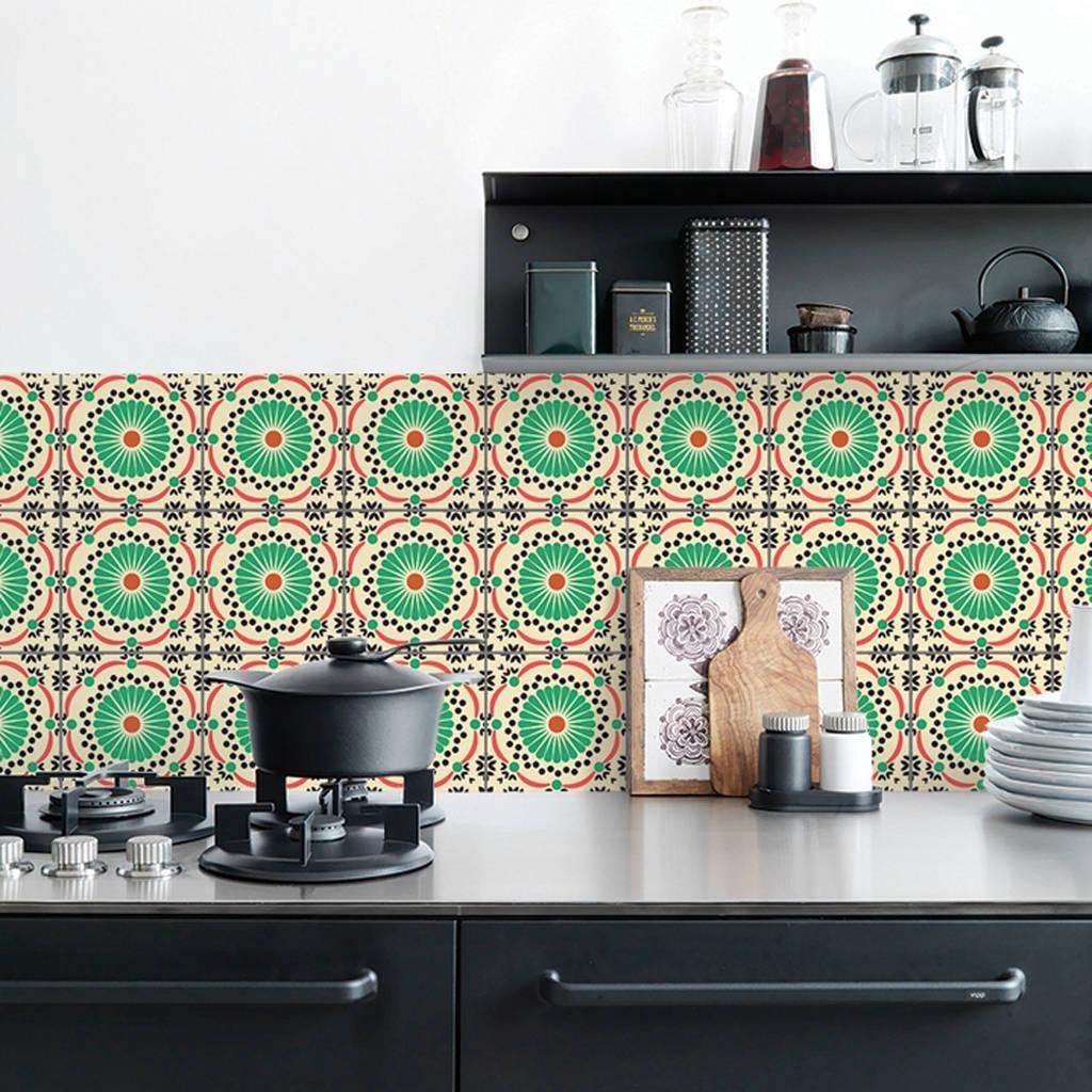 retro tile kitchen walls backsplash wallpaper