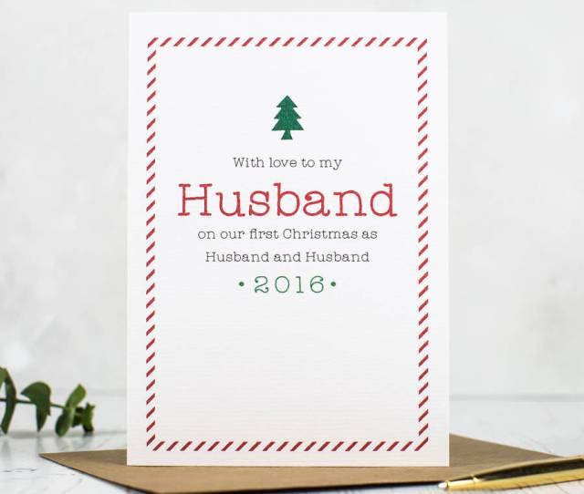 First Christmas As Husband And Wife Christmas Card  C B