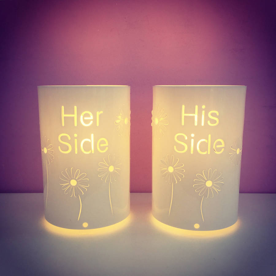 His Side And Her Side Table Lamps By Kirsty Shaw