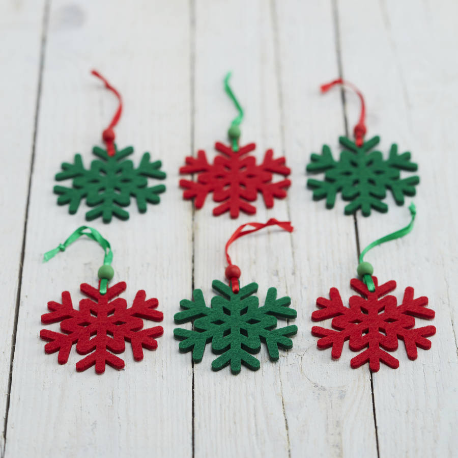 Felt Snowflake Christmas Tree Decorations By The Christmas
