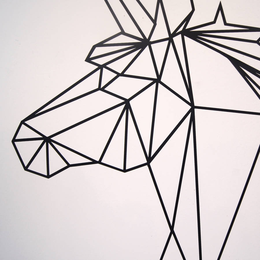 Geometric Unicorn Wall Sticker By Parkins Interiors