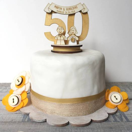 golden wedding cake decorations | Decoration For Home
