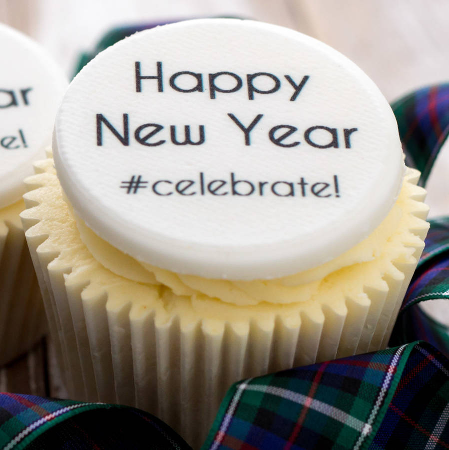 new year cupcake decorations by just bake   notonthehighstreet com New Year Cupcake Decorations