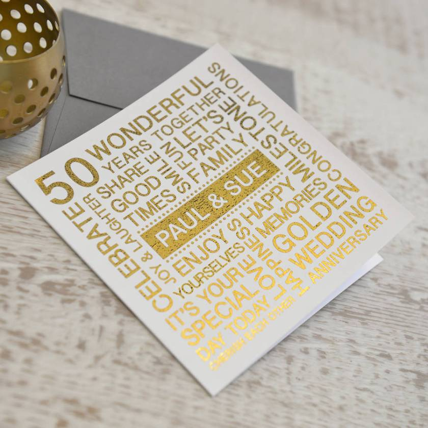 Golden Wedding Anniversary Elegance Invitation