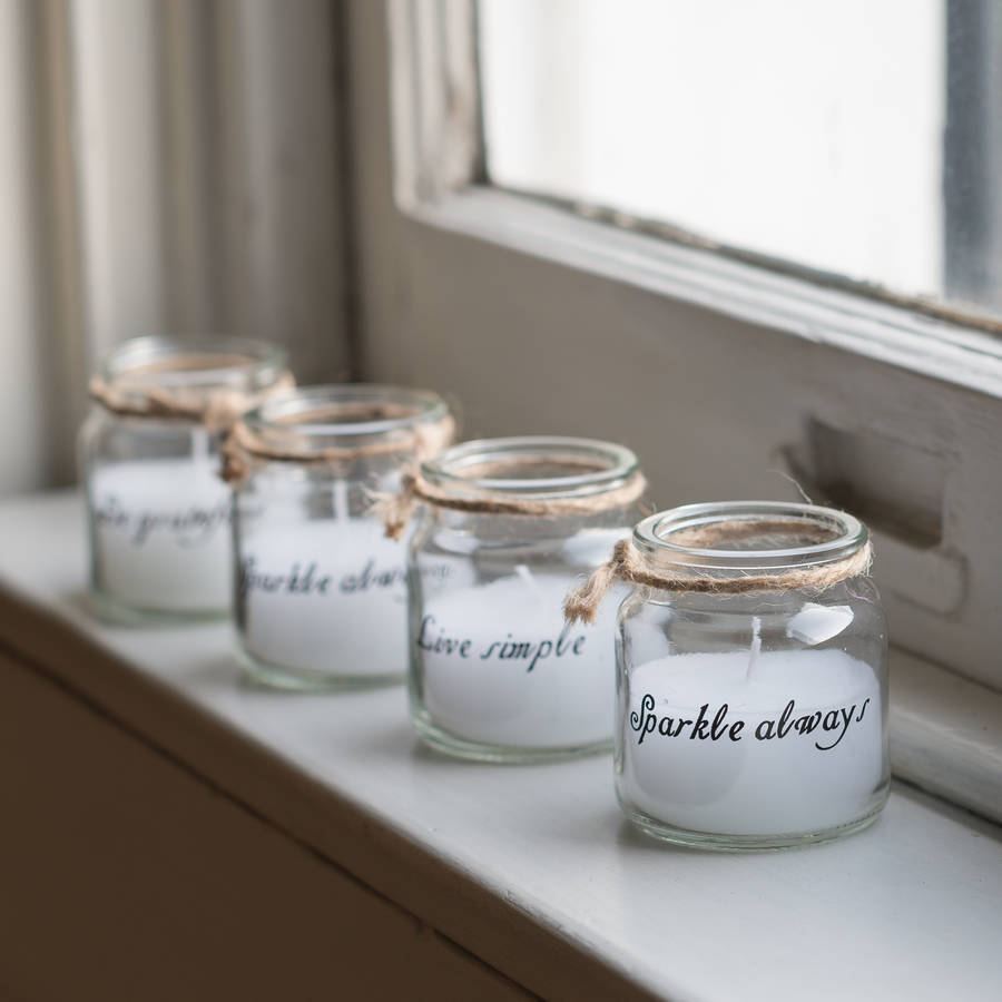 Little Quote Candle Jars Gift Set Of Four By The Flower