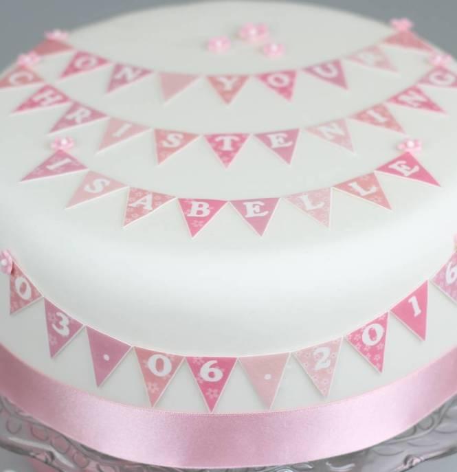 Personalised Christening Cupcake Toppers Vex