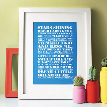 Favourite Lyrics Poster cheap gift ideas for teen girls
