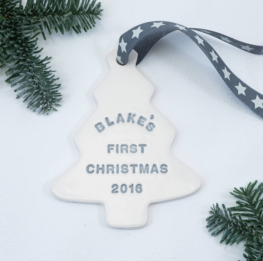 1st christmas tree decorations for Babys first christmas decoration