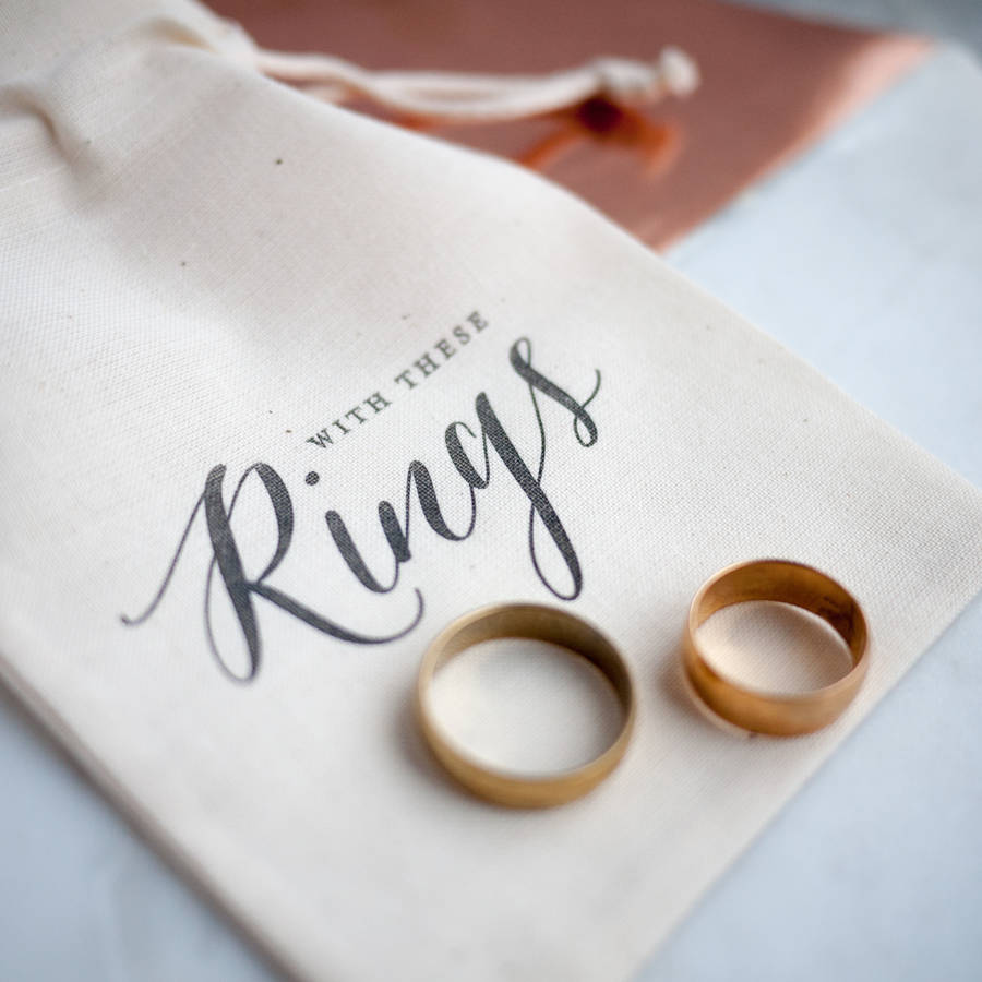 Calligraphy Wedding Ring Bag By Print For Love Notonthehighstreet Com