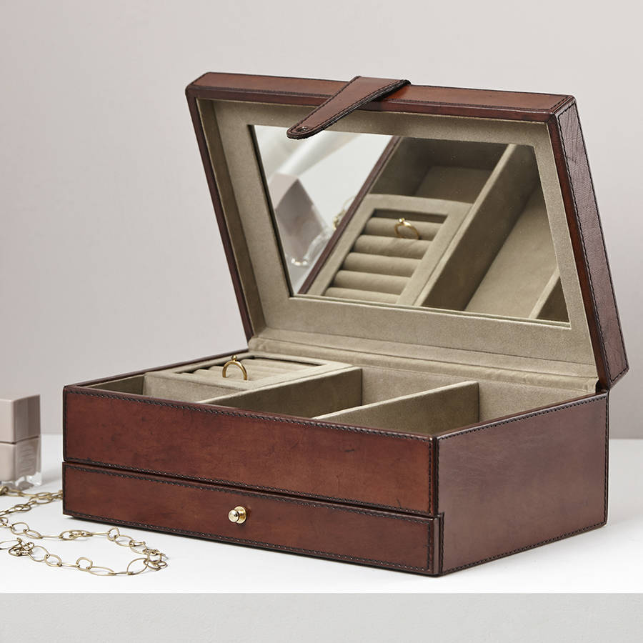 Leather Jewellery Box By Life Of Riley