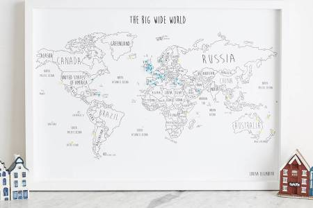 Personalized World Travel Map With Pins And Frame Full HD Pictures - World travel map with pins and frame