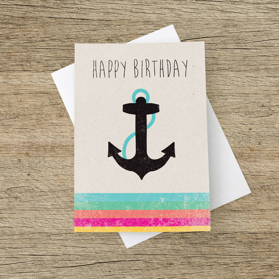 Happy Birthday Anchor Card By The Strawberry Card Company