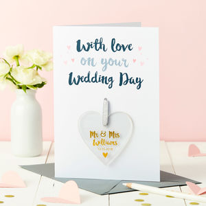 Personalised Wedding Foiled Keepsake Card