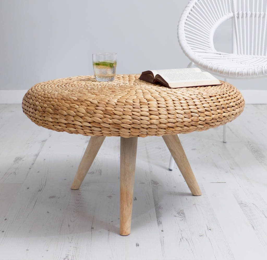 natural wood coffee table round