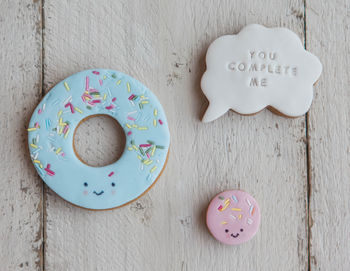 Valentines 'You Complete Me' Doughnut Biscuits
