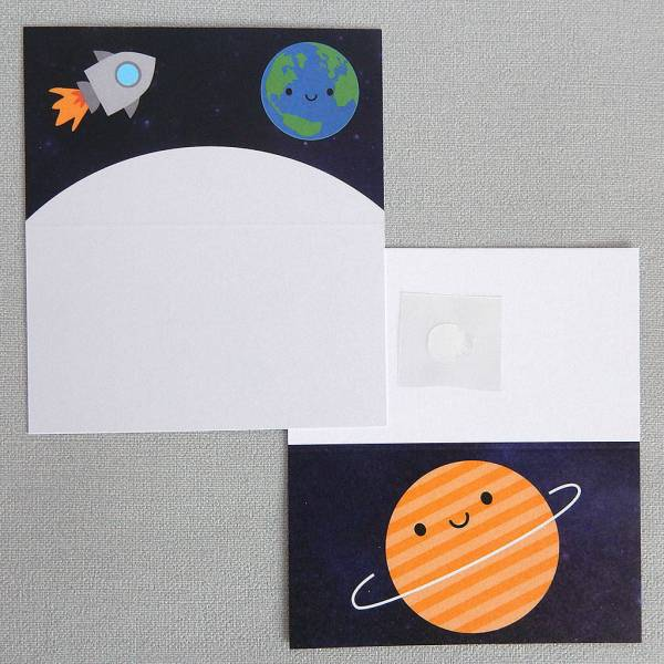 five sheets of solar system space wrapping paper by asking ...