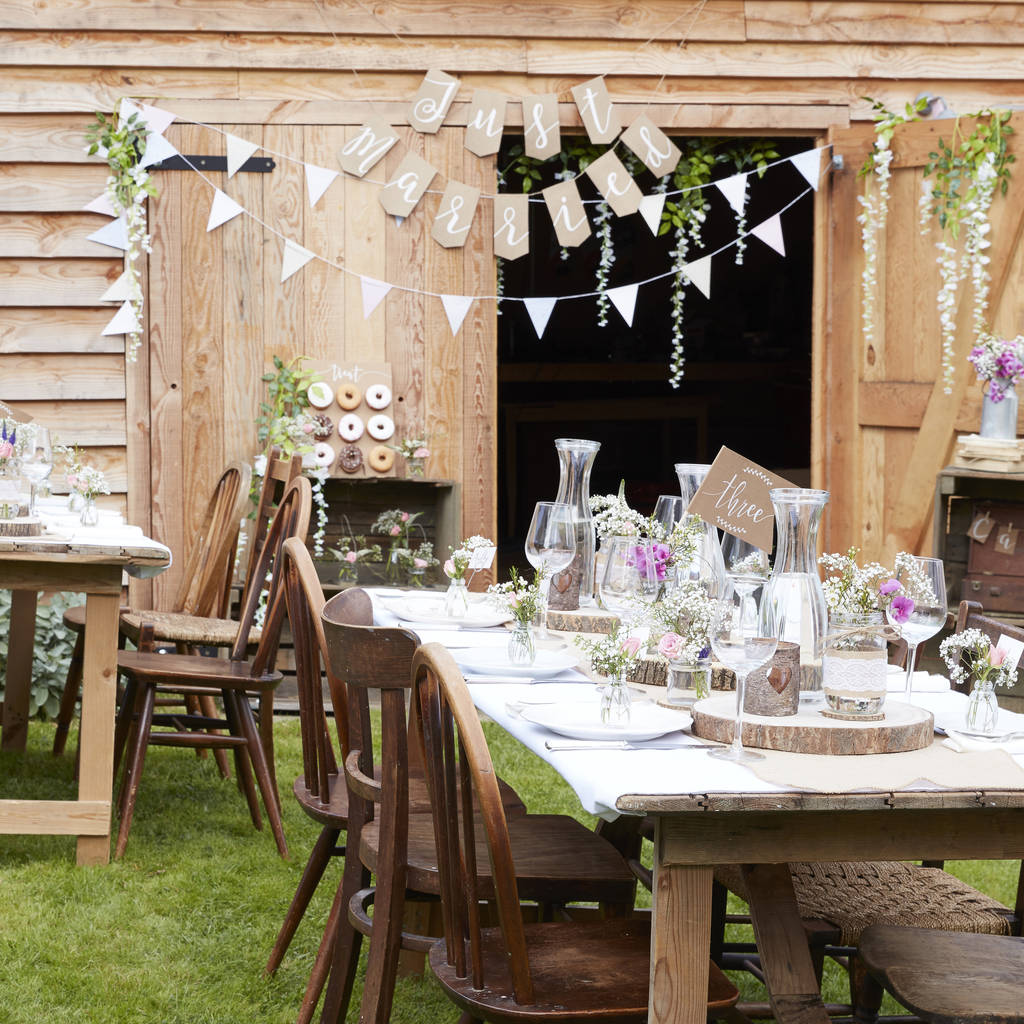 Mini Wooden Wedding Decoration Easels By Ginger Ray ... on Easel Decorating Ideas  id=75752