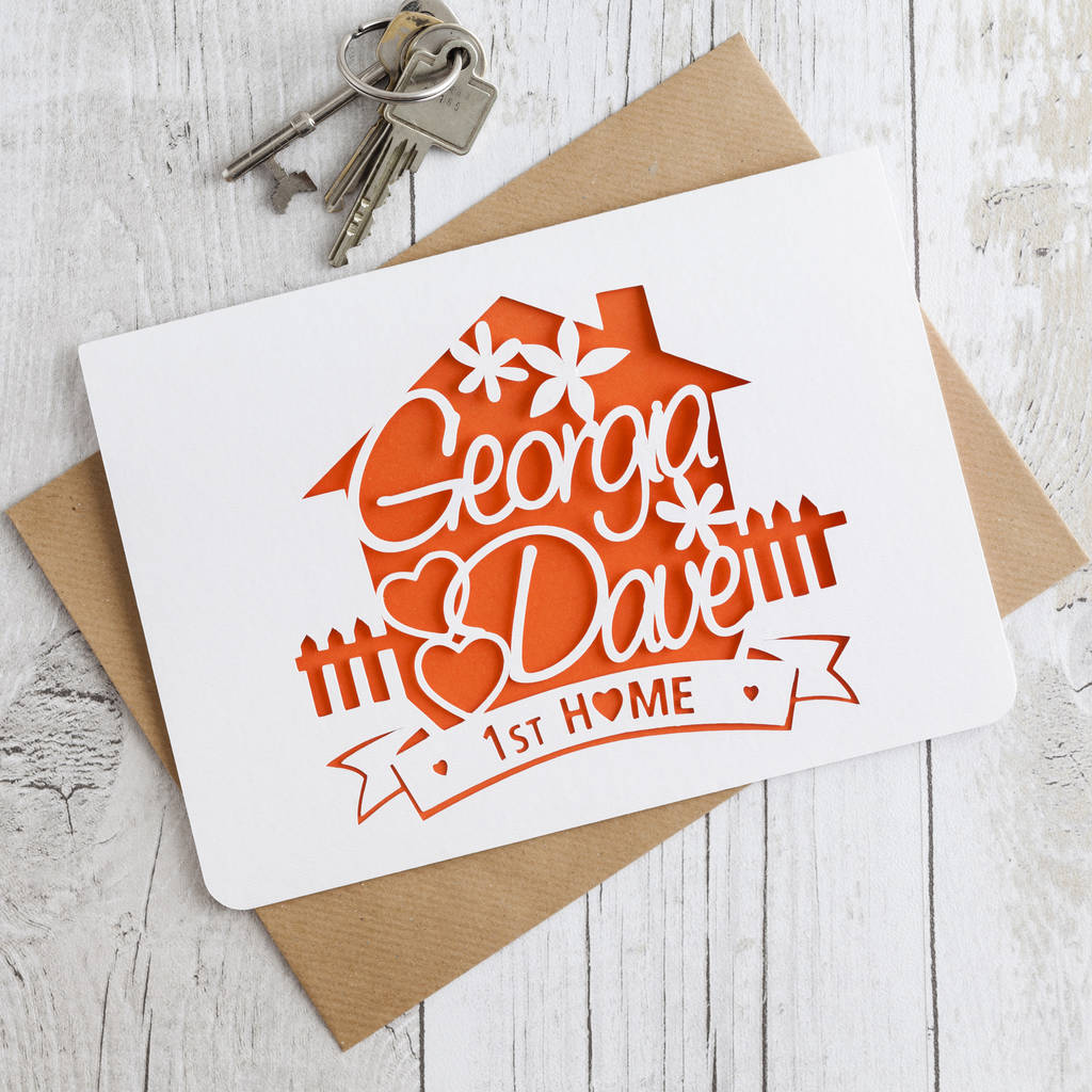 New Home Paper Cut Card By Love Poppet