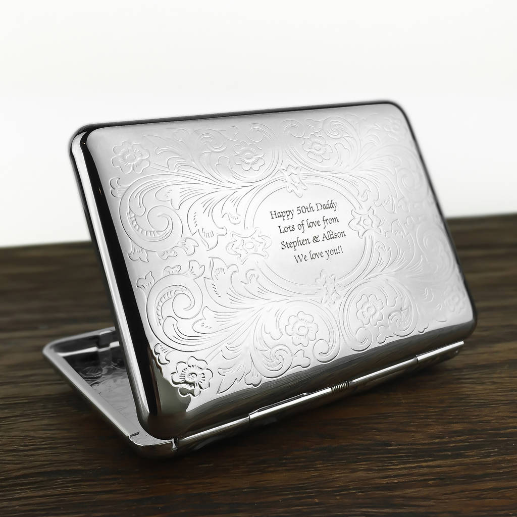 Personalised Cigarette Case With Engraved Message By Wild