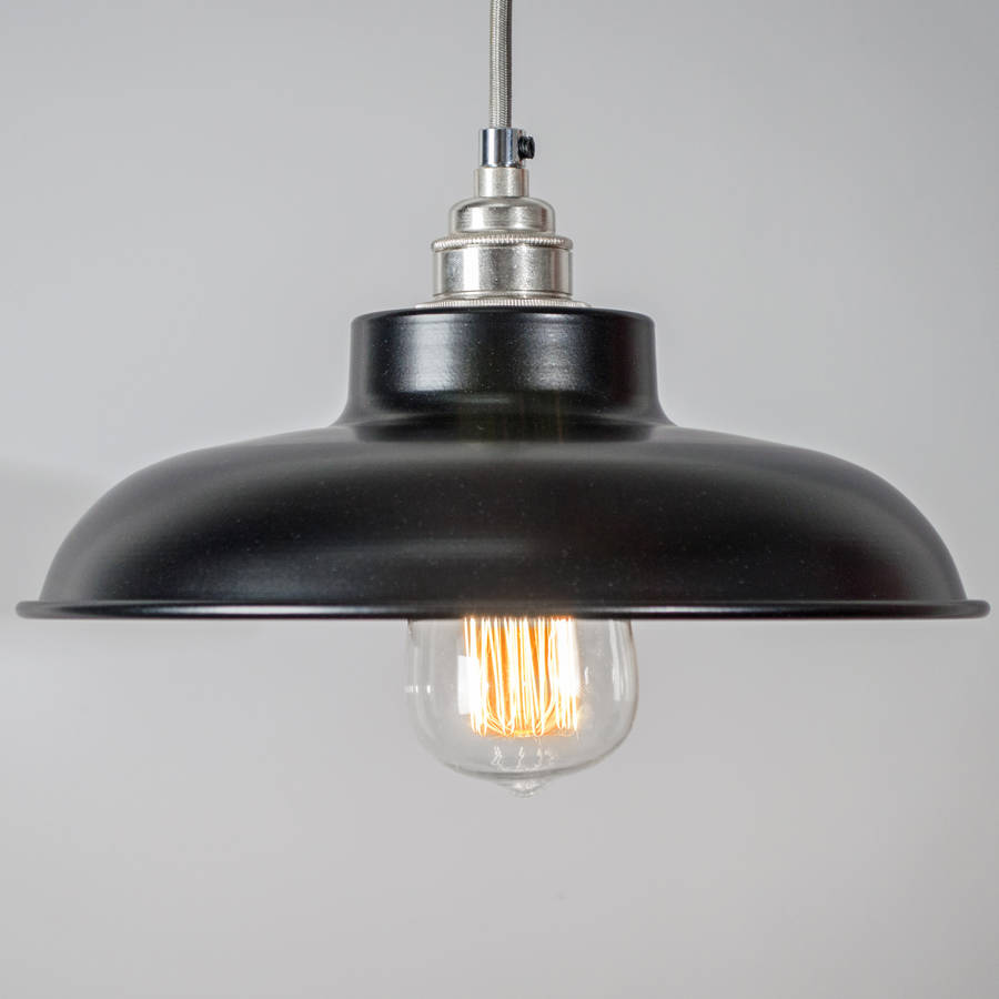 Red Dome Pendant Light