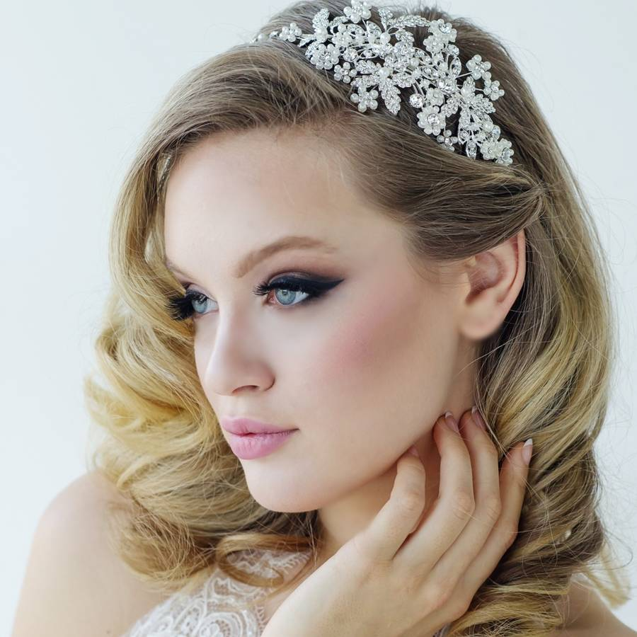 Rosalie Pearl And Crystal Hair Band By Lola Amp Alice