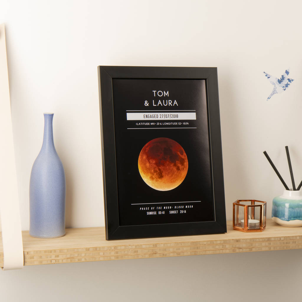 Personalised Moon Phase Significant Date Print By Oakdene