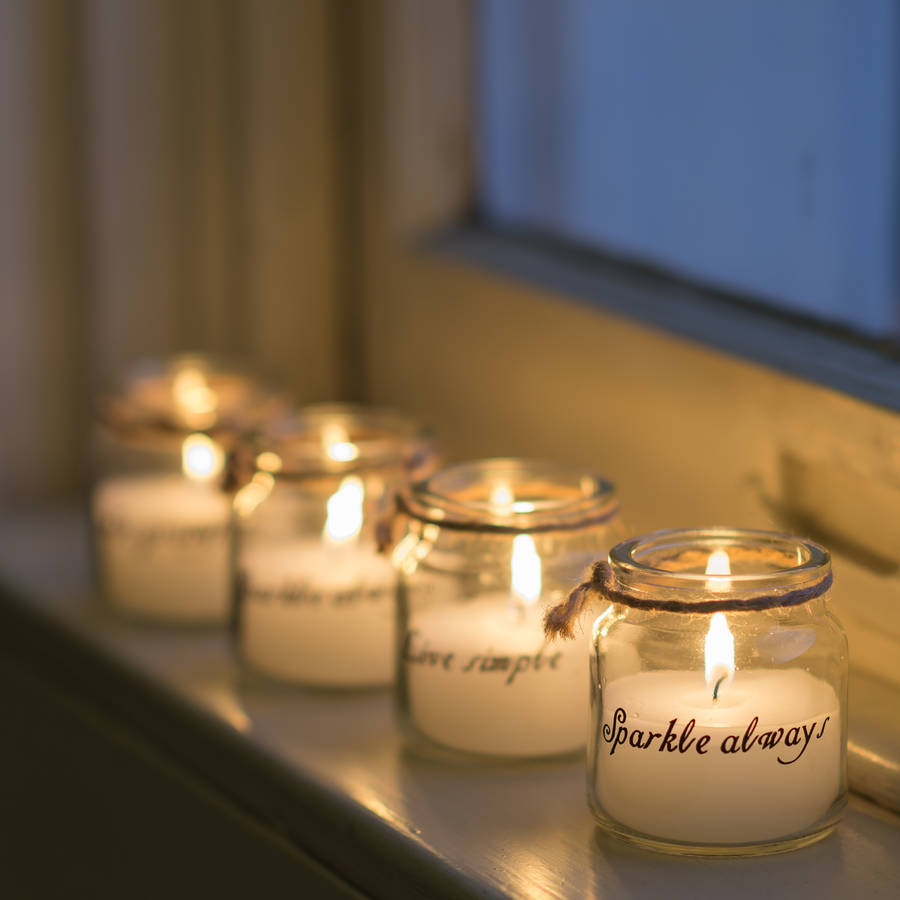 Little Quote Candle Jars Gift Set Of Four By The Flower Studio