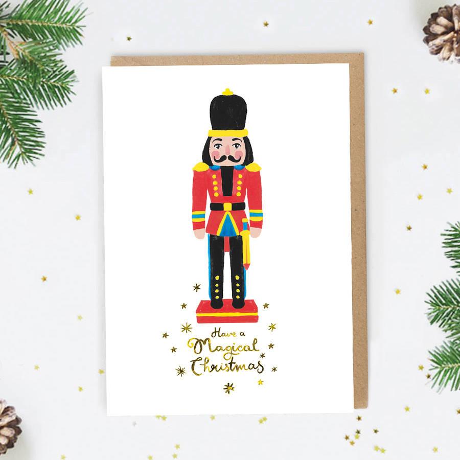 Nutcracker Christmas Card By Jade Fisher