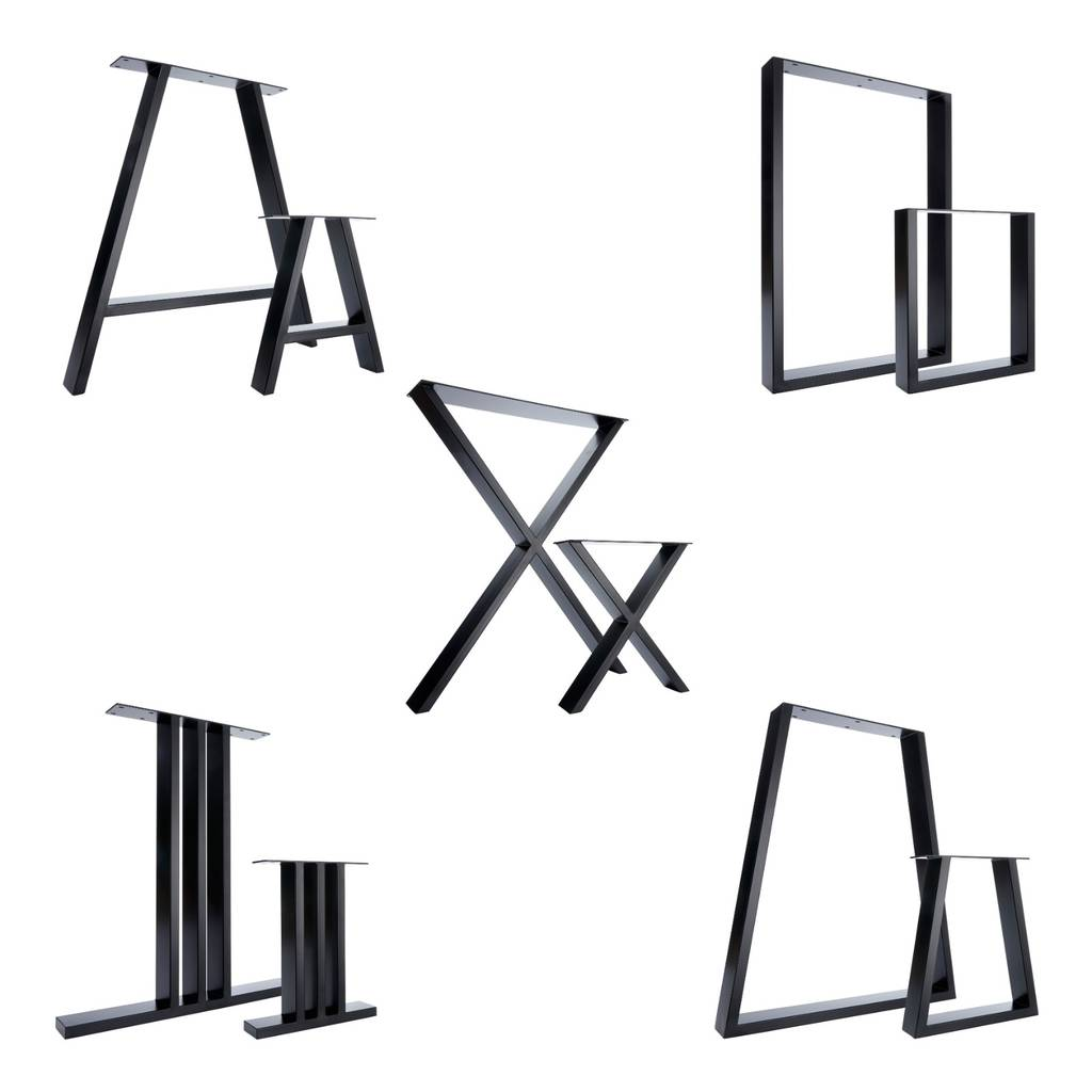 Two Table Legs Dining X Pedestals In Industrial Steel By