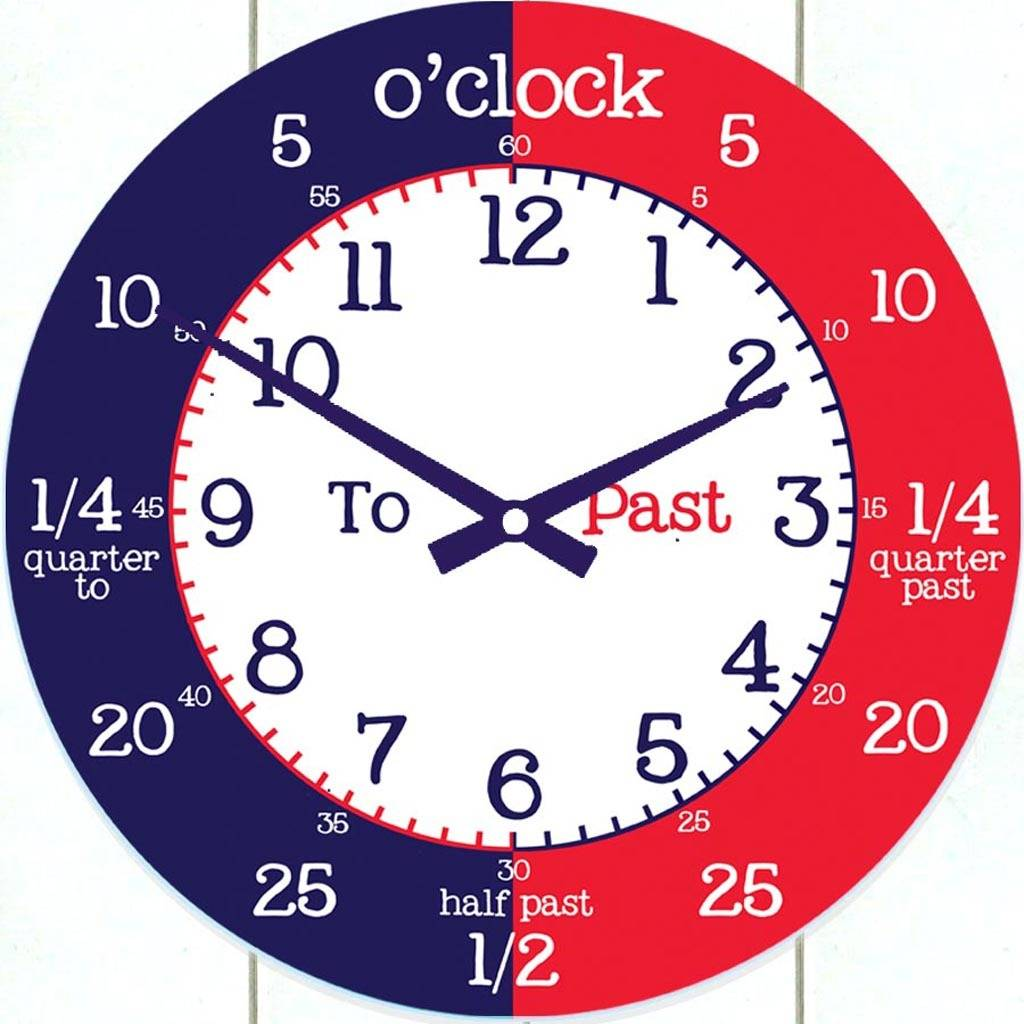 Time Teaching Wall Clock By Cute Clocks