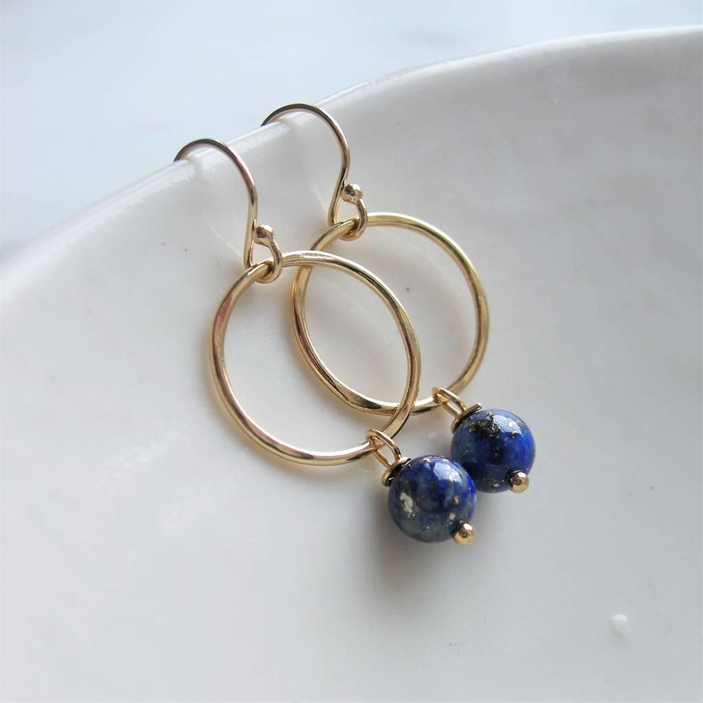 Lapis Lazuli Earrings By Hazey Designs