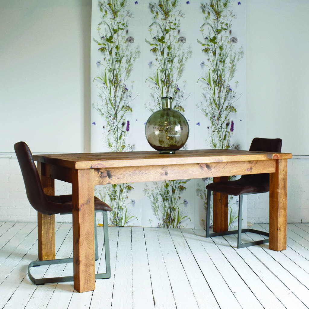 solid wood dining table by h f notonthehighstreet com on solid wood dining table id=73972