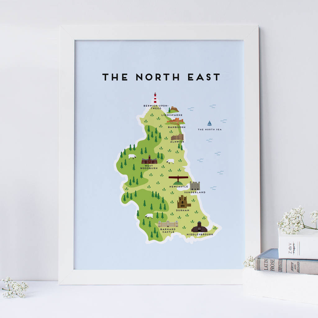 map of the north east print by pepper pot studios ... on ↗  id=79380