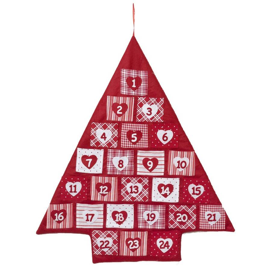 Fabric Christmas Tree Advent Calendar By All Things