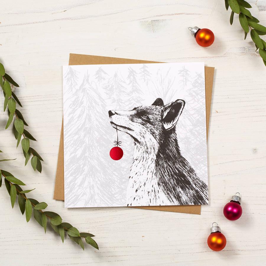 Fox Christmas Card By Cherith Harrison
