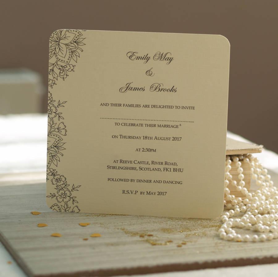 Vintage Rustic Wedding Invitations Uk