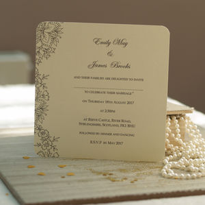 Vintage Lace Wedding Invitations By