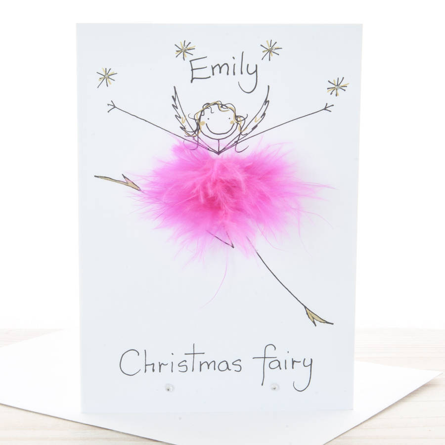 Handmade Personalised Christmas Fairy Card By All Things